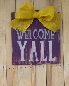 Custom Wood Pallet LSU Door Hanger Front Door by GetSwank on Etsy