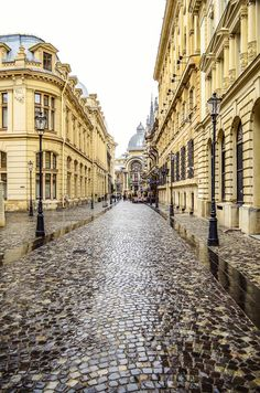 Stavropoleos Street, Bucharest Old town , Romania. Walking through the city, you will understand why Bucharest used to be called Little Paris.