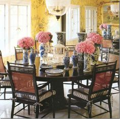 This is just gorgeous, I love blue and yellow, and the touches of pink in the flowers...exquisite!