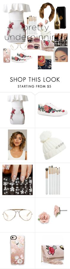 """""""Untitled #136"""" by mehqueen ❤ liked on Polyvore featuring WithChic, Gucci, Armand De Brignac, Miss Selfridge, Spectrum, CÉLINE, 1928 and Casetify"""