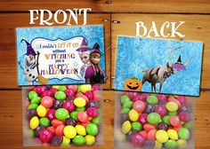 Frozen Halloween Topper - INSTANT DOWNLOAD-    This listing is for a special treat or favor topper  as a party gift for friends or your child! Fill