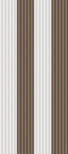 Cole & Son wallpaper. Cheltenham. A narrow, evenly spaced stripe printed on gently textured base paper. Available in soft neutral tones of dove grey, ivory, linen and charcoal, emphasized by bands of elegant metallic.