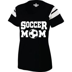 Short Sleeve Screen Printed Soccer Mom TShirt by A1Graphics, $25.00