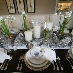 Image detail for -Blue And Silver Christmas Tablescape Design, Pictures, Remodel, Decor ...