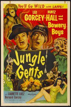 JUNGLE GENTS - Leo Gorcey - Huntz Hall & The Bowery Boys - Laurette Luez - Bernard Gorcey - Allied Artists - Movie Poster.