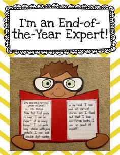 I'm and end of the year expert! Fun writing activity and craft for students to reflect on what they have learned this year!