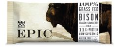 Maybe its just me but 95% of protein bars taste like sawdust covered in cheap chocolate. Not to mention they aren't very healthy for you. The guys over at Epic are changing that. The bars from Epic are 100% grass fed animal based bars designed as nature intended..... Paleo friendly, gluten free, and low in sugar. The Bison Bar is made with 100% grass fed bison, bacon, and cranberries. Now that sounds like a Man's Man protein bar!