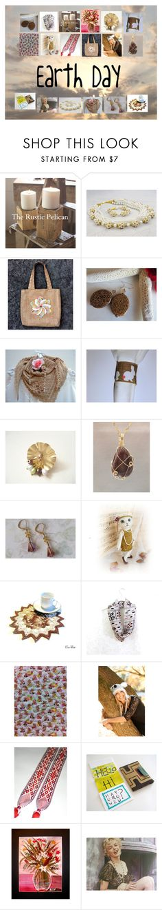 """""""Earth Day: Vintage & Handmade Gifts"""" by paulinemcewen ❤ liked on Polyvore featuring interior, interiors, interior design, home, home decor, interior decorating, Chanel, rustic and vintage"""