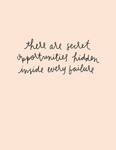 There are secret opportunities hidden inside every failure | #GIRLBOSS printables by Jordan Brantley on The Crafted Life