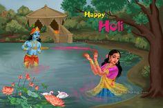 Right Click to Save Holi E-Card