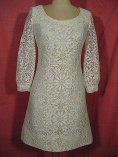 1960s Mod Lace Wedding Dress at Robin Clayton Vintage