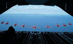 Red Arrows ( taken from a Hercules transporter aircraft )