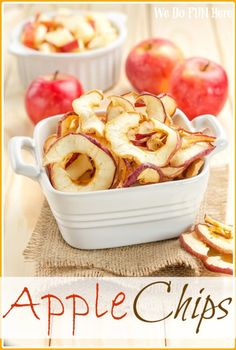 Healthy, yummy apple chips. Just can't resist! From We Do Fun Here
