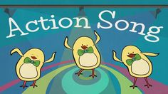 "Our ""Action Song for Kids"" is a funky and bouncy dance tune that introduces the action verbs ""clap"", ""stomp"", ""swing"", ""dance"", ""sing"", jump"", ""touch"",  and ""shake"".  In the video, our robot and the little chicks present a funky choreography on the dance floor, while Mother Hen and the band are singing their hearts out!"