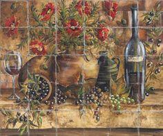 Tuscan design - Tuscan Kitchen Tile Backsplash for Tuscany Decor
