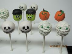 Jack Skellington, Mummy, Pumpkins, Frankenstein Cake Pops