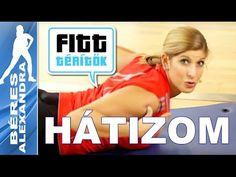 Béres Alexandra - Mély hátizom és hátizom ülve (Fitt-térítők sorozat) - YouTube