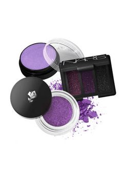 For an unexpected green eyes look, try a super deep plum with a touch of glitter sparkle applied all over the lid. Try: NARS Trio Eyeshadow in Arabian Nights, $45, Lancôme Paris Color Design Infinité 24H in Vibrant Violet, $24.50