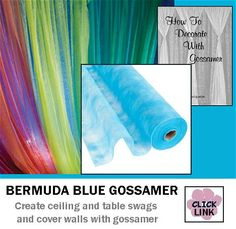#Gossamer #Fabric for swagging on tables, ceilings, covering walls and more.