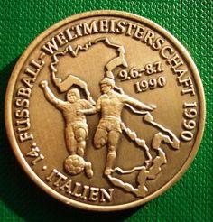 Germany Medal 20.1 gr 35 mm Silver 999 er Italy  World championship 1990 Footbal