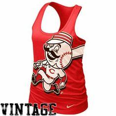 Nike Cincinnati Reds Ladies Vintage Cotton Tank Top - Red