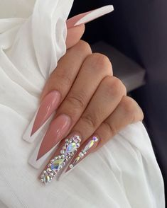 French Manicure Acrylic Nails, Simple Acrylic Nails, Aycrlic Nails, Best Acrylic Nails, Swag Nails, Cute Nails, Pretty Nails, Teen Nails, Color For Nails