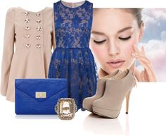 """""""Blush and Blue"""" by msdeeds on Polyvore"""