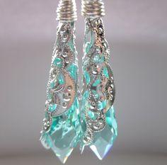 Swarovski Earrings Icicles Prisms Summer by FaithHopeInspire, $42.00