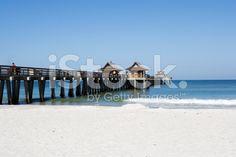 Naples Pier royalty-free stock photo