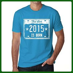 The Star 2015 is Born Men's T-shirt Blue Birthday Gift - Birthday shirts (*Amazon Partner-Link)