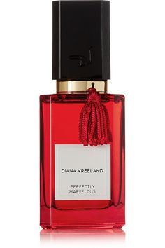 Commissioned by Diana Vreeland's grandson and recent biographer Alexander, 'Perfectly Marvelous' parfum is laced with vibrant notes that echo the legendary editor's distinct style. Developed by perfumer Céline Barel, this bold scent features a heady Jasmine bouquet, spicy Pimento and a rich Musk base. #DianaVreeland #ValentinesDay