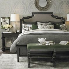 Emporium Upholstered Bed by #bassettfurniture