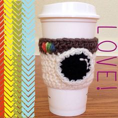 Instagram Crochet Coffee Cup Cozy by faithsyarnworks on Etsy, $8.50