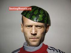 JASON STATHAM И АРБУЗ #funny #humor #selfie #fun #swag #style #lol #russia #photo  #statham #jason