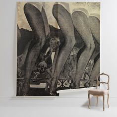 'Moulin Rouge Legs' Mural - Land of Lost Content Collection | Shop Cushions & Wall Murals at surfaceview.co.uk Black And White Photography, Wall Murals, Color Pop, Sculptures, Cushions, Lost, Glamour, Content, Illustration