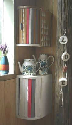 Re-use of old wooden bread bins - Save recycle reuse repurpose relove