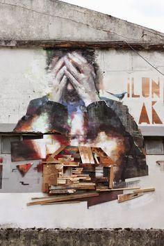 Xabier XTRM & Sebastian Velasco collaborate on a new piece in Tolosa, Spain