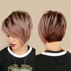 Rose Gold Short Hair