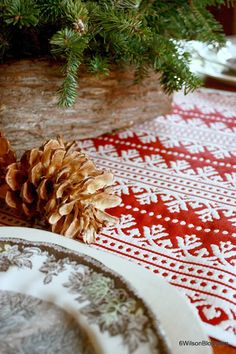 A Nordic Inspired Red and White Tablescape