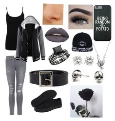 """Everything is Gray"" by nightmare-and-daydreams ❤ liked on Polyvore featuring M&Co, Frame, Kasun, Bling Jewelry, Vans, Dolce&Gabbana and Huda Beauty"