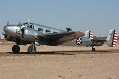 https://flic.kr/p/be3oo2 | IMG_1440 | Beech Model D18S (Beech C-45 Expeditor) 2011 EAA Copperstate Fly-In, Casa Grande, Arizona