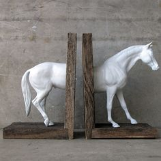 Horse Bookend. Hmm, I have some old Breyer horses sitting around!
