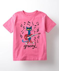 Loving this Raspberry Pete the Cat 'Groovy' Tee - Toddler & Girls on #zulily! #zulilyfinds