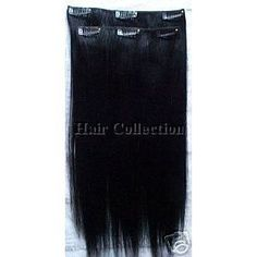 """Remy Hair Clip on in Extensions for Your Back -20""""(50cm) Long. Color: #1 by hair collection. $89.95. 8""""wide x 20""""Long x 2pcs - For your back head. Italian Remy 100% Human Hair Silky Straight. Double wefted Clip on Extensions - Easy to use. It can be curled,straightened and colored same as your own hair.. Color: #1 Jet Black. Gorgeous Italian REMY Soft Silky Straight 100% Human Hair. Tangle FREE. Very smooth and soft. You will be able to attain incredible results, Our I..."""