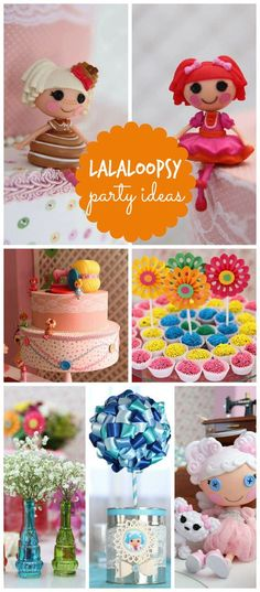 A Lalaloopsy girl birthday party with a world of ribbons, buttons, highlights and much cuteness! See more party planning ideas at CatchMyParty.com!