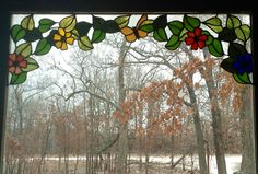 Want to add stained glass to your windows, but dont want to block the view? how about a Stained glass valance! By Les Burnett, glassmoose.com