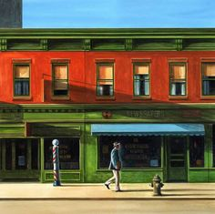 | Edward Hopper - Red Building [1926] | I love Hopper's art style and this painting embodies all my favorite parts about it. The colors are beautiful, the use of light/shadows are perfect, and it is realistic but still conveys a feeling.