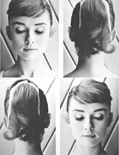 Audrey Hepburn. #hair #ponytail