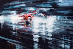 John Ketchell Paints Semi-Abstract Racing Fury