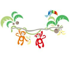 5 Jungle canopy - Kids Wall Stickers, Nursery Wall Decals + fun room accessories! - Leafy Dreams Nursery Decals